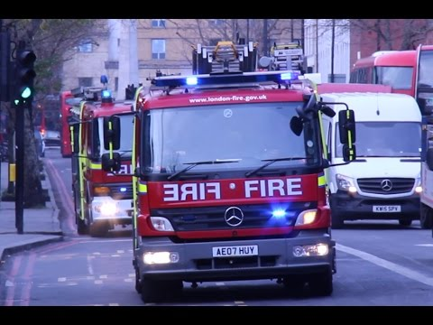 London Fire Brigade respond to fire alert at Underground Station