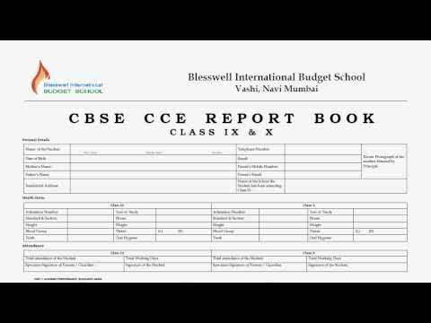 CBSE CCE Anecdotal Records - School Register - YouTube