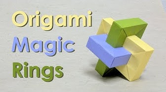 "Origami Tutorial: Impossible Rectangle ""Umulius Rectangulum"" aka Magic Rings (Thoki Yenn)"