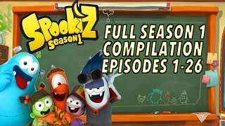 🌟  Spookiz  🌟 | ★ FULL EPISODE 1-26 SEASON 1 COMPILATION | (Season 1) ★ Cartoons for Children 스푸키즈