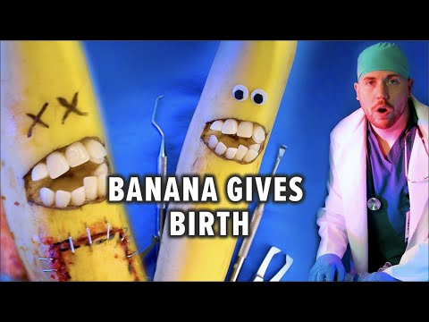 Fruit Surgery! Banana Gives Birth! Discount Dentist Ep 119 #Shorts
