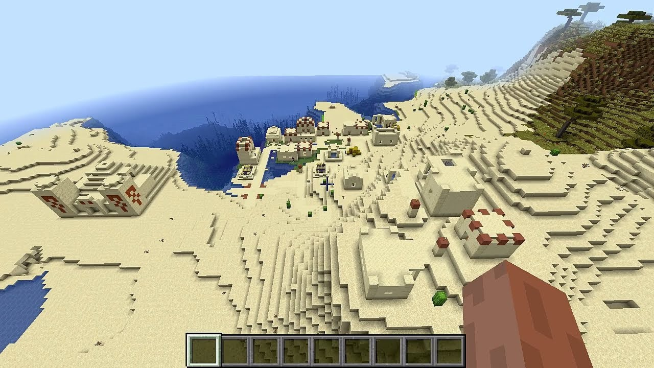 Minecraft 12.124 Seed 1229: New desert village and temple at spawn