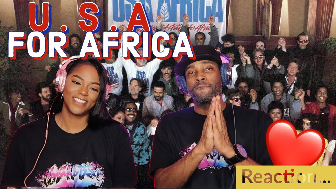 """Download THE BEST SONG EVER!! 💯 - U.S.A. FOR AFRICA """"WE ARE THE WORLD"""" REACTION   ASIA AND BJ!! ❤️ 🔥"""