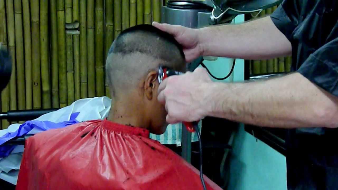 Balding clippers buzz cut