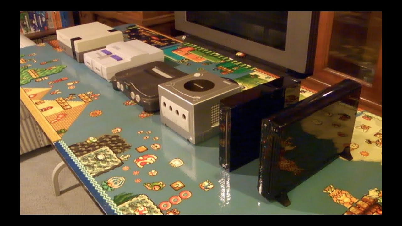 Wii U Size Comparison to Wii, Gamecube, N64, SNES and NES - YouTube