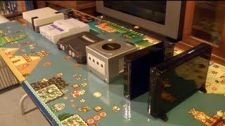 Wii U Size Comparison to Wii, Gamecube, N64, SNES and NES