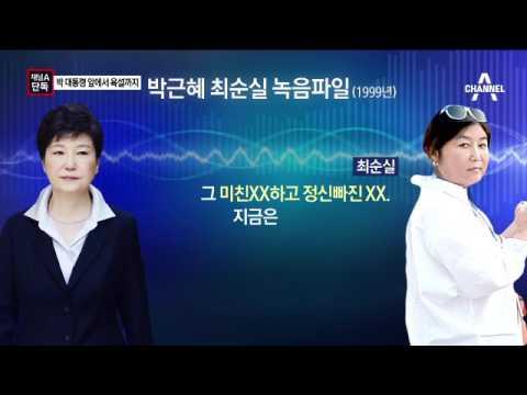 [채널A단독]최순실, 박근혜 대통령 앞 욕설까지 쓰며 불평