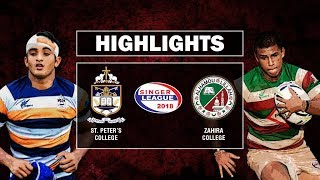 Match Highlights – St. Peter's College v Zahira College | Schools Rugby 2018 #3