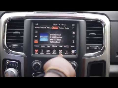 How To Use The Navigation In A 2015 Dodge Ram 1500 Youtube