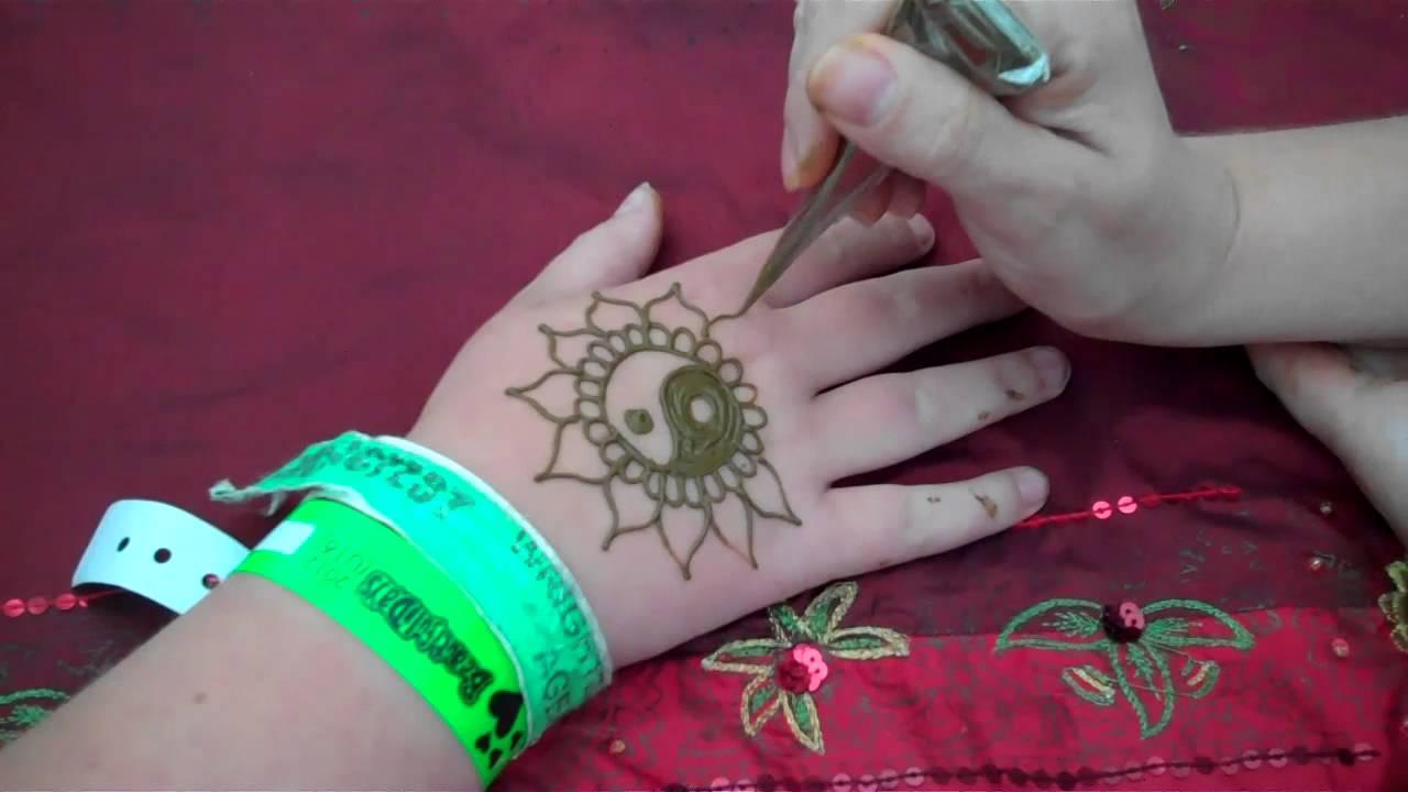 Hennacat Com Quickie Sff12 Workshop Henna Yinyang Sunflower Youtube