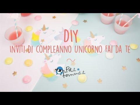 Inviti Di Compleanno A Forma Di Unicorno Petit Fernand Youtube
