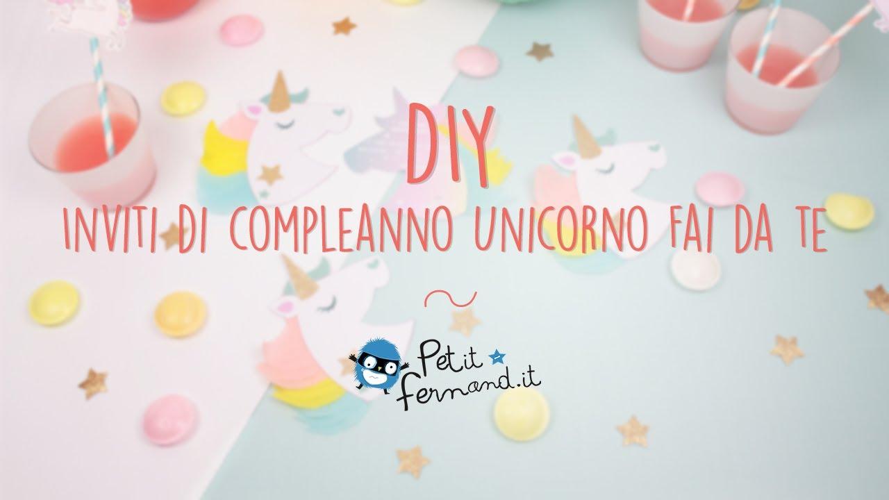 Inviti Di Compleanno A Forma Di Unicorno Petit Fernand