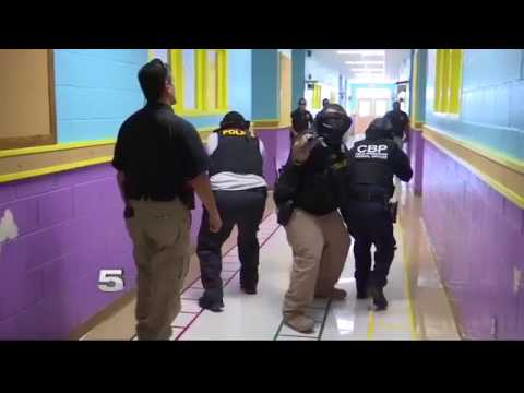 Donna ISD, CBP Officers Train for Active Shooter in School