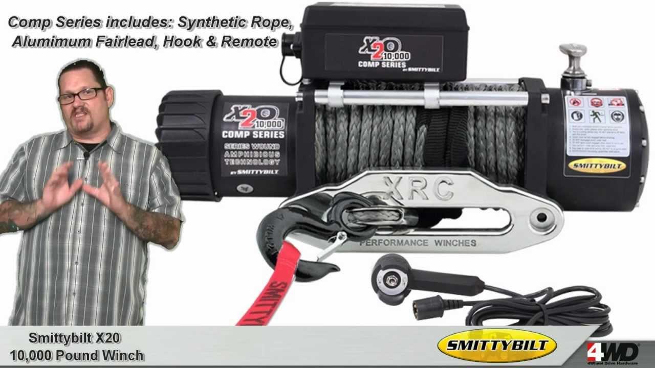 smittybilt x20 10 000 pound winch jeep winches. Black Bedroom Furniture Sets. Home Design Ideas