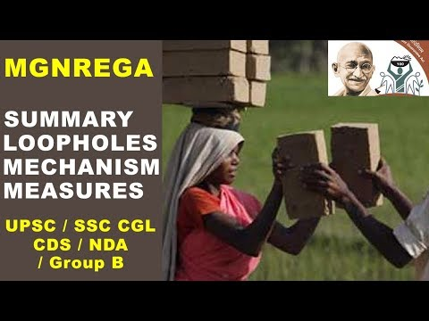 MGNREGA Scheme explained for UPSC / IAS / SSC CGL / CDS / NDA
