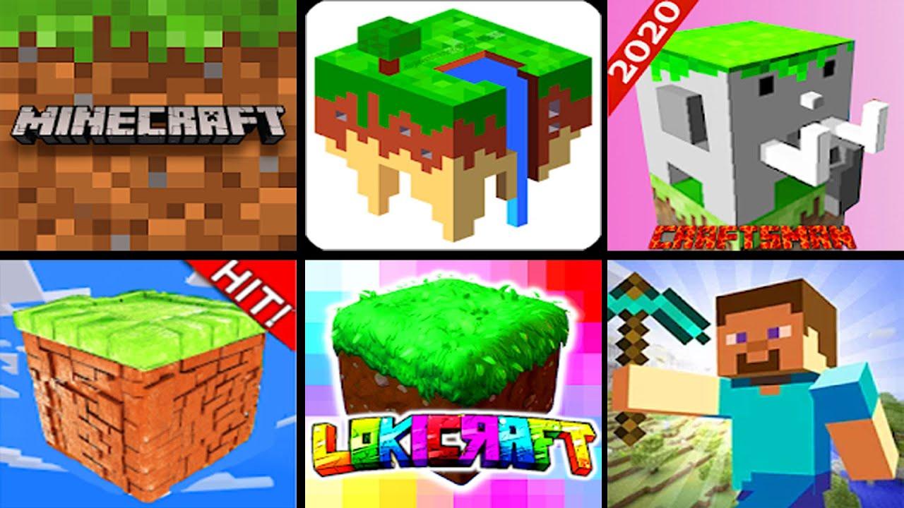 Minecraft VS Minicraft VS Eerskraft VS Lokicraft VS Craftsman 2020 VS Craftsman 1