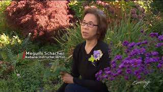 King TV Evening Show segment about ikebana artist Megumi Schacher.