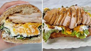 [1분완성] 리코타치즈 닭 가슴살 샌드위치 만들기 Ma…