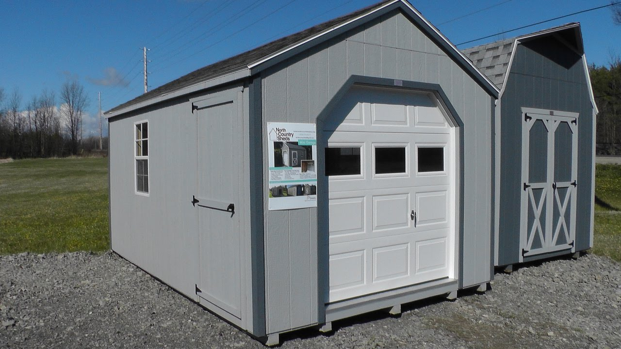 10u0027 X 16u0027 Portable Garage Shed | ATV and Motorcycle Storage Shed | Ottawa Sheds - YouTube & 10u0027 X 16u0027 Portable Garage Shed | ATV and Motorcycle Storage Shed ...