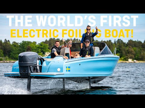 6x POWERBOAT WORLD CHAMPION TAKE OFF IN WORLD'S FIRST FOILING ELECTRIC BOAT⚡️