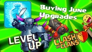 Clash of clans - Buying Pekka lvl 4, Freeze spell lvl 3, Cannon lvl 12 etc.