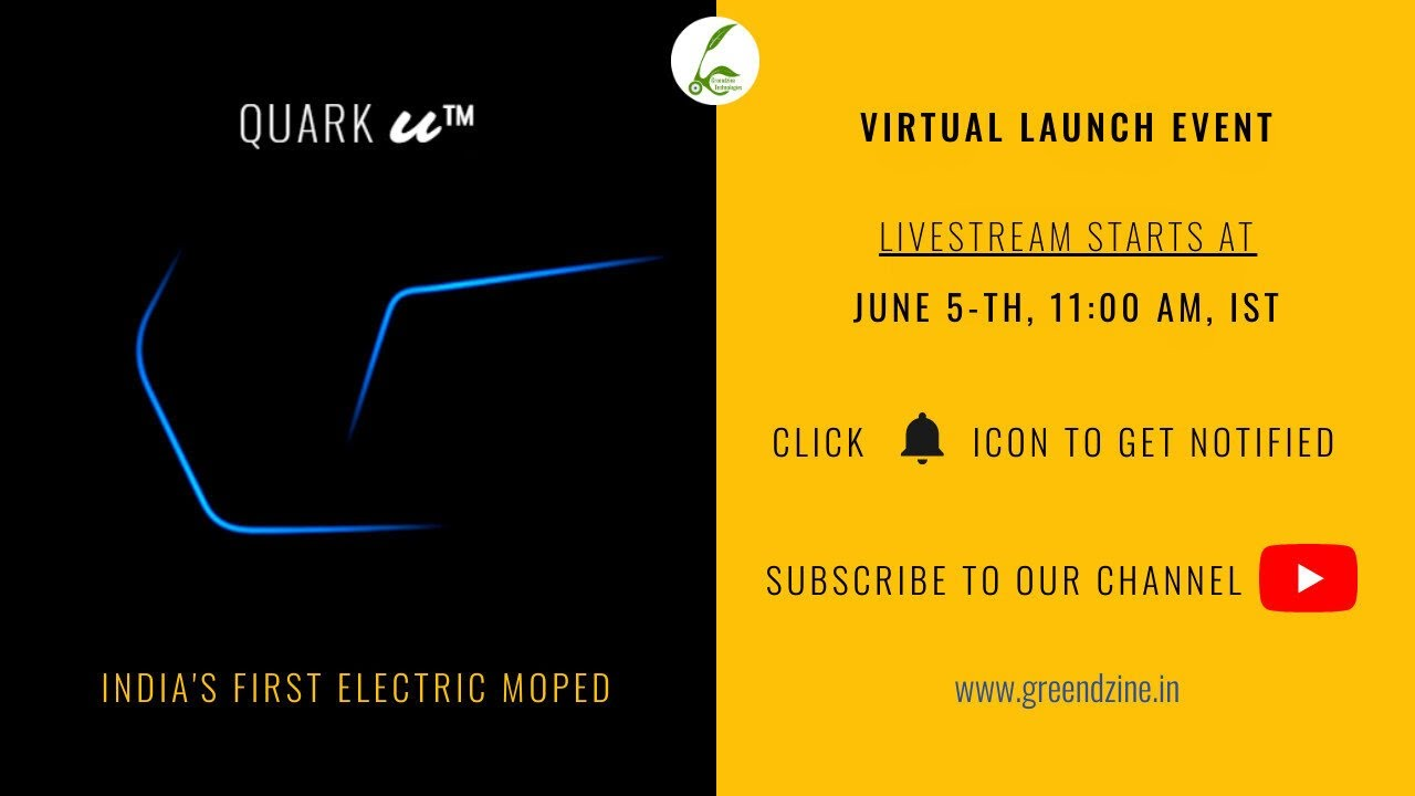 Launch of Quark - U, India's First Electric Moped | Greendzine Technologies