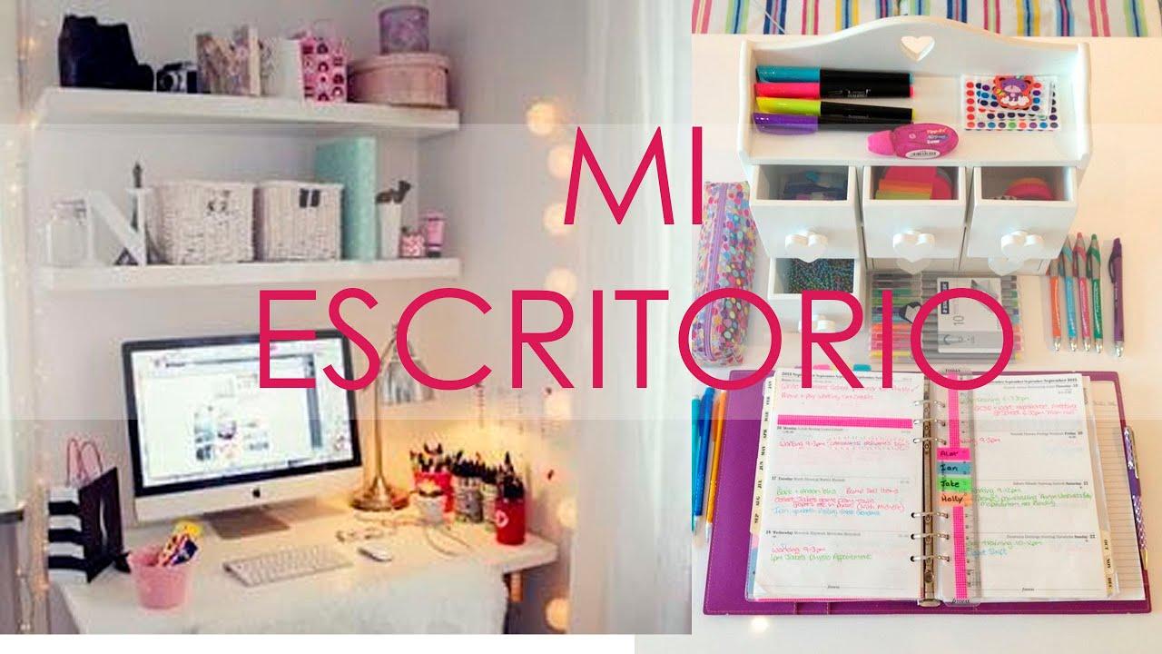 Ordena tu espacio y tu escritorio ideas sorteo thzy viry for Ideas para decorar escritorio