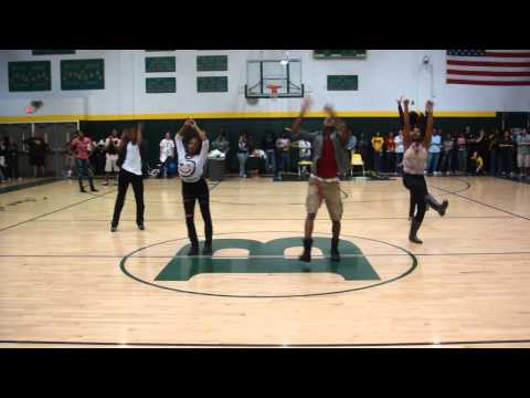 Broken Valentine - Bethel High School Pep Rally- Hands Up Thumbs Down Choreography