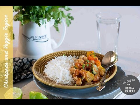 Moroccan Style Chickpeas And Vegetable Tagine Recipe