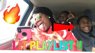 LIT PLAYLIST!! |2018 in the car W/ Siblings |vickeycathey