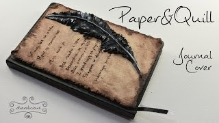 Paper&Quill Journal Cover - polymer clay TUTORIAL