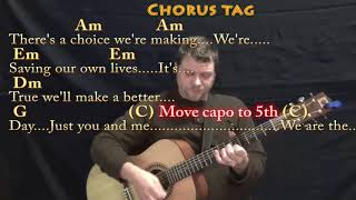 We Are the World (USA For Africa) Guitar Cover Lesson with Chords/Lyrics - Capo 4th & 5th