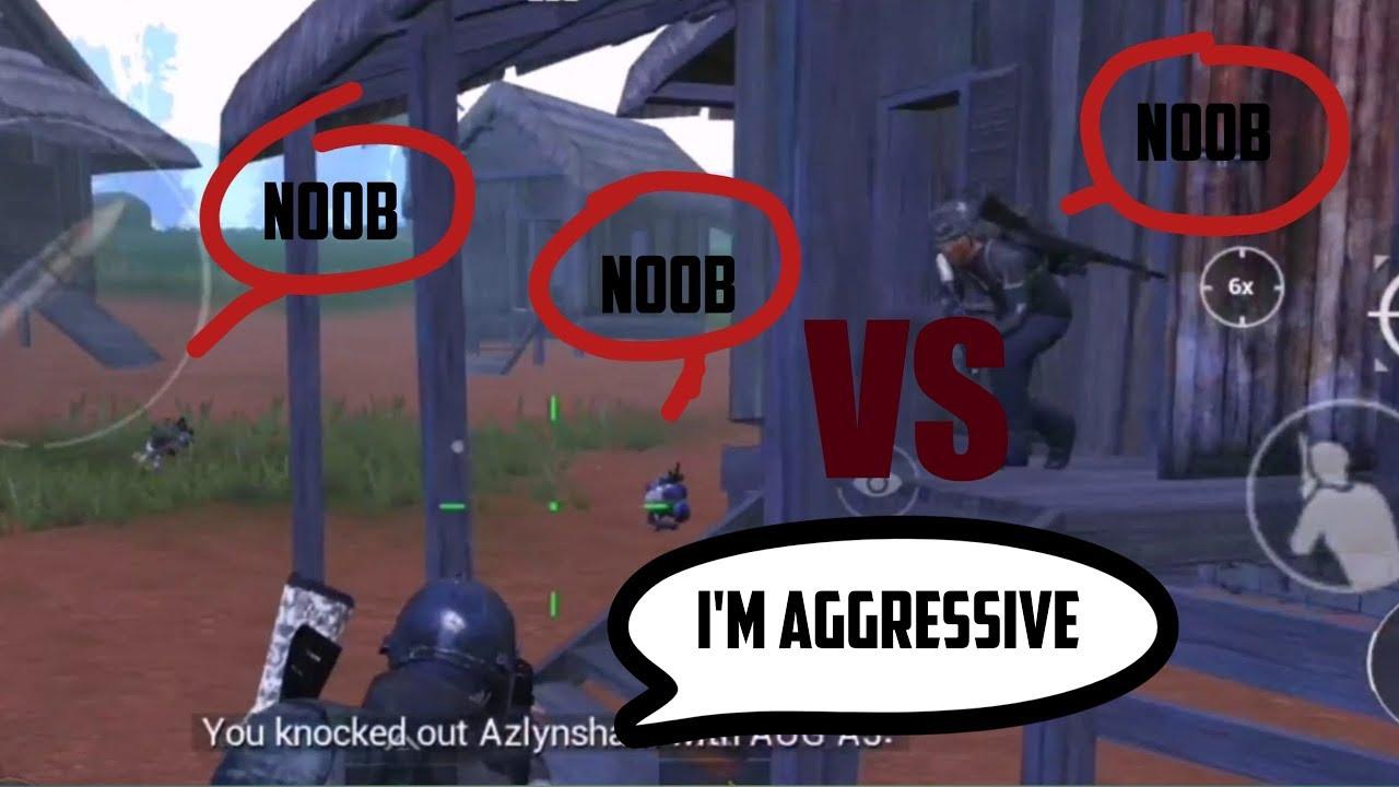 I am vs three noob players   PUBG mobile  19 kill