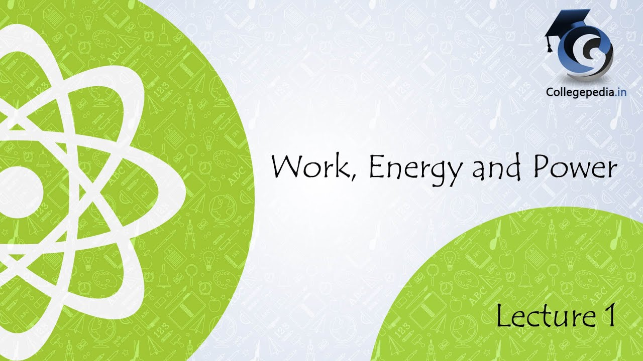 work energy and power lecture 1 iit jee physics