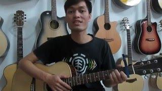 Đàn Guitar Giá Rẻ 1600k (có ty) | Đàn Guitar gỗ Hồng Đào | Dạy kèm Guitar Đệm Hát 25k