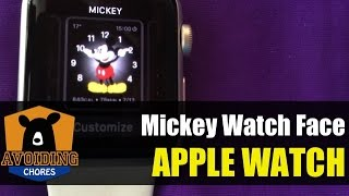 Apple Watch - Customize Mickey Mouse Watch Face