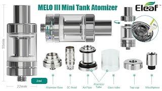 MELO 3 Mini мини обзор, разборка MELO, замена испарителя в MELO
