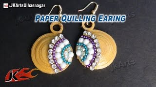 DIY How to make Paper Quilling Earing  -  JK Arts 576