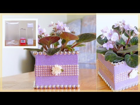 DIY Planter: How to Recycle Clear Plastic Packaging Boxes (Easy DIY Craft)
