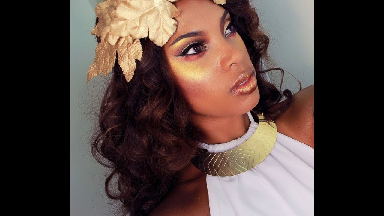 Greek Golden Goddess Makeup Hair Tutorial Youtube
