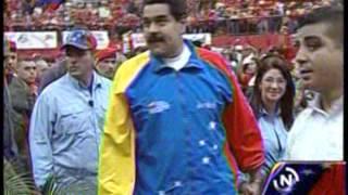Presidente Maduro arriba a acto en el estado Barinas