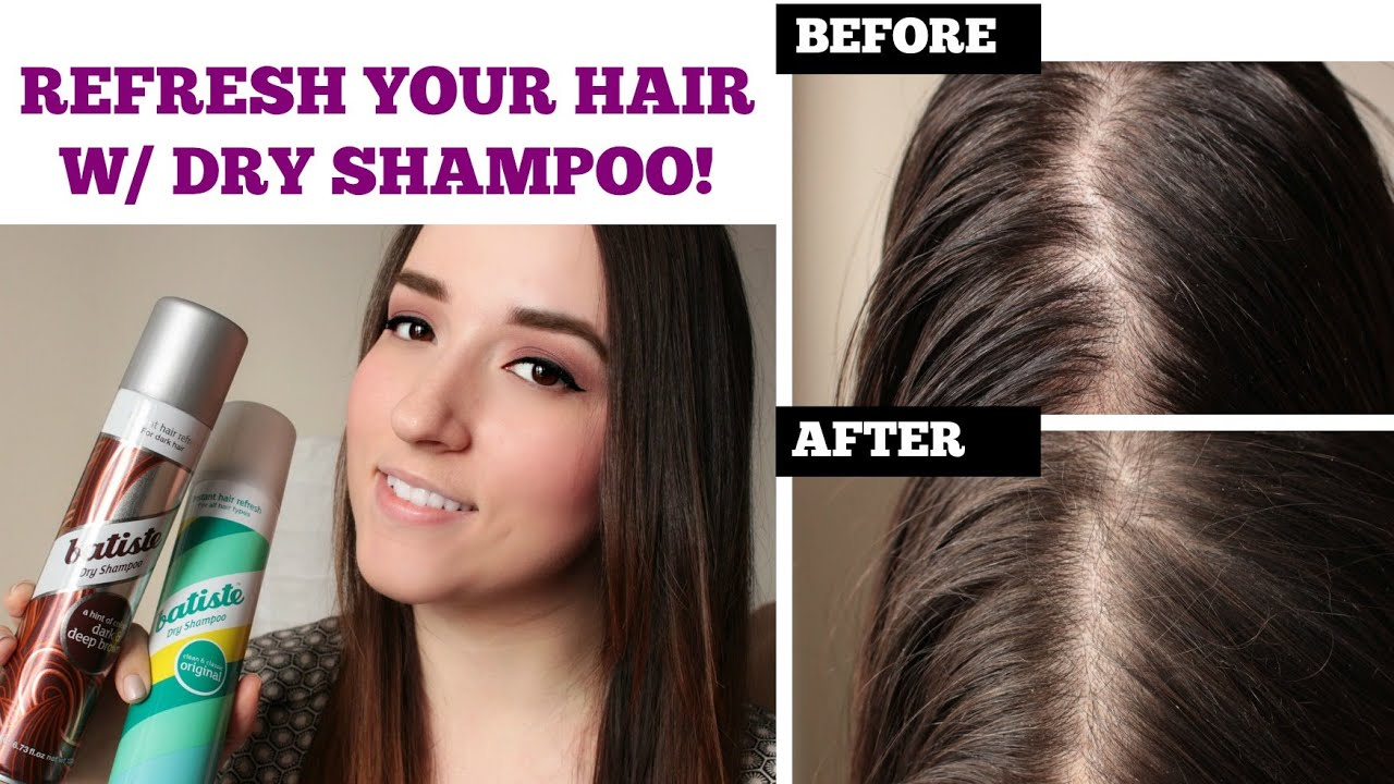 Refresh Oily Limp Hair Batiste Dry Shampoo Demo Review Youtube