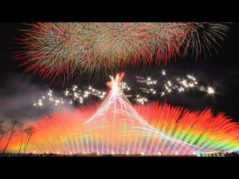 2015 長野えびす講煙火大会 ミュージックスターマイン♪ Shinshu Enka & Beniya Aoki