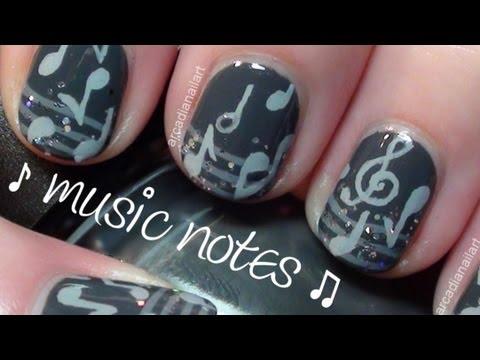 Music Nail Art on Short Nails  *Collaboration* | ArcadiaNailArt