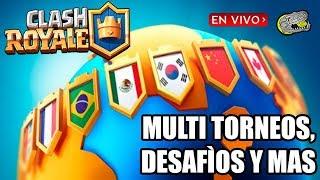 🔴 Desafíos, Multi Torneos, Misiones, Cofres y Mas - Clash Royale - Jugando en Vivo - En Español