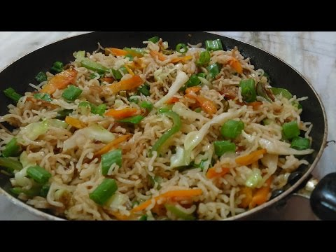 STIR-FRIED NOODLES WITH VEGETABLES - EASY, HEALTHY,GLUTEN FREE,LESS OIL RECIPE.