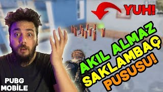 YUH! EFSANE TUZAK KURUP SİLAH ÇEKTİLER!! PUBG Mobile SAKLAMBAÇ