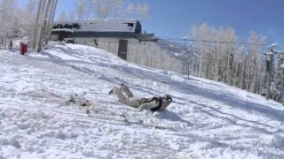 Vail Terrain Park - Skiing Recycled Features