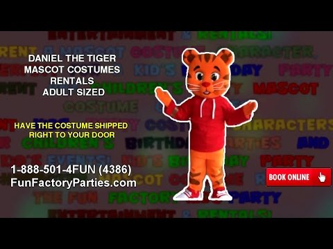 DANIEL THE TIGER MASCOT COSTUMES RENTALS ADULT SIZED