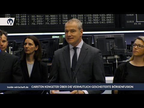 Deutsche Börse-Chef Kengeter äußert sich zum ersten Mal über gescheiterte Fusion